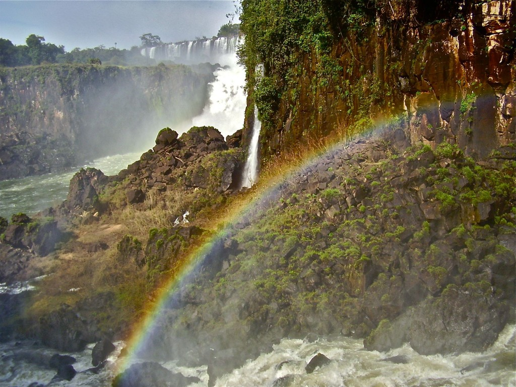 Being self employed isn't all rainbows... unless you happen to be at Iguacu falls.