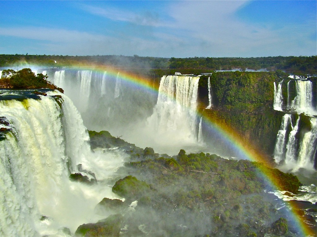 Iguacu Falls on the border of Brazil and Argentina.