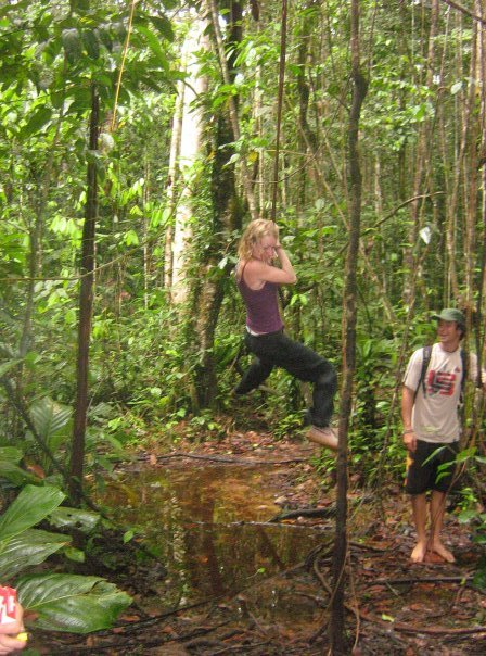 Me being Tarzan with my superhuman powers!
