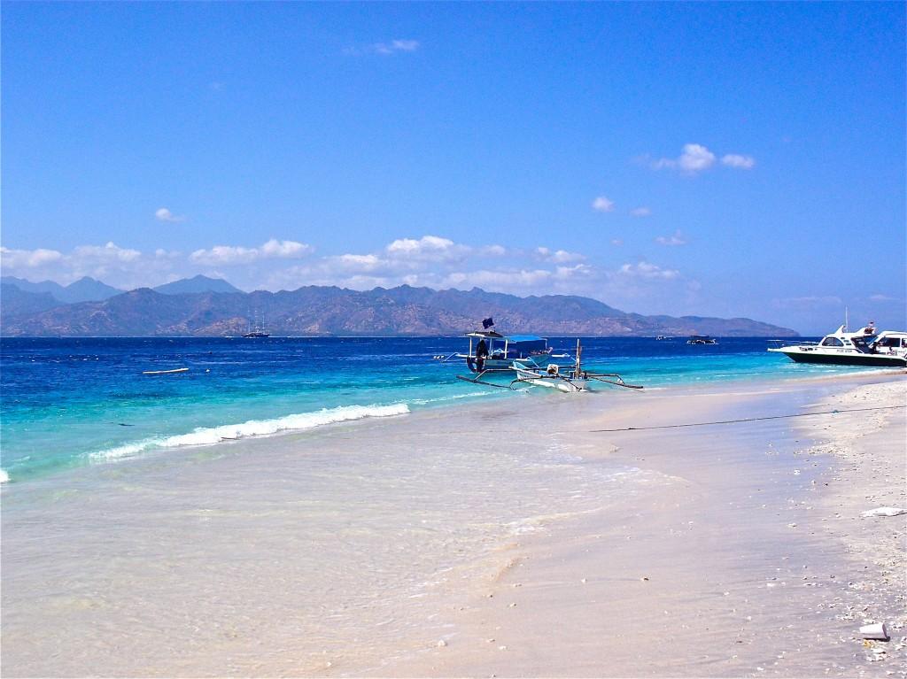 The view from Gili Trawangan beach.