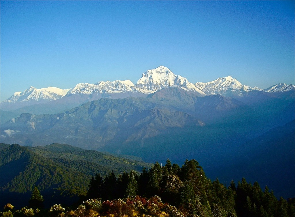 The view from Poon Hill, Nepal