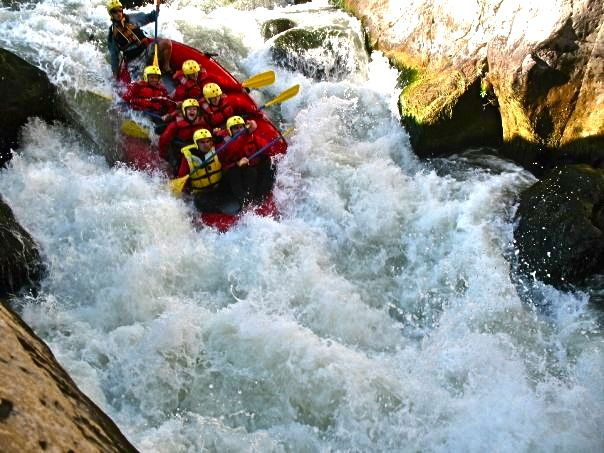 White water rafting in Peru, just before we flipped over and smashed my face on the rock! I wouldn't want to experience it again, but surviving it made me feel strong.