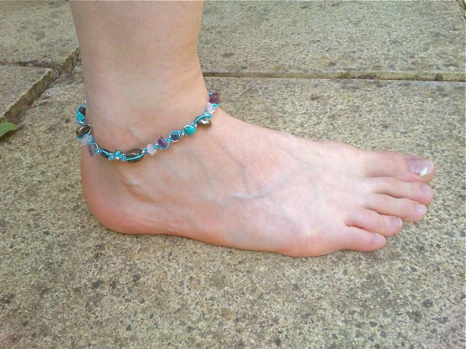 anklet blue