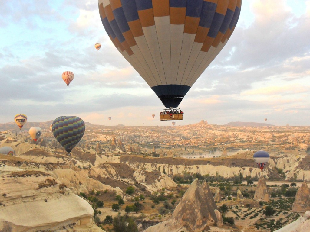 Hot air ballooning in Cappadocia, Turkey.
